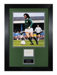 *SOLD* George Best signed Northern Ireland tribute presentation