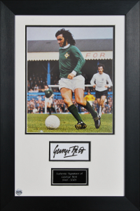 George Best signed Northern Ireland tribute presentation
